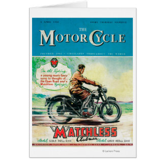 The Motor Cycle Magazine Cover Card