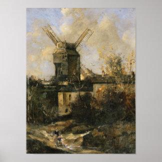 The Moulin de la Galette, Montmartre, 1861 Poster