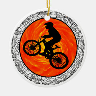 THE MOUNTAIN BIKERS CERAMIC ORNAMENT