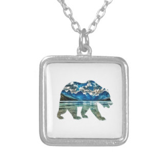 THE MOUNTAIN LAKE SILVER PLATED NECKLACE