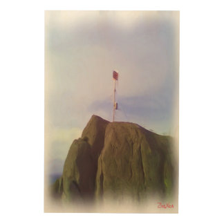 The mountain top wood prints