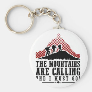 The Mountains Are Calling and I Must Go Basic Round Button Keychain