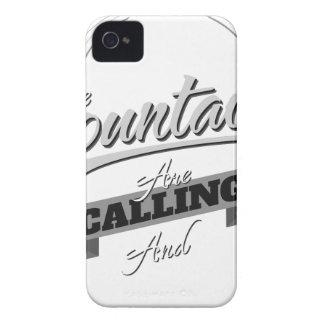 the mountains are calling and i must go iPhone 4 cases