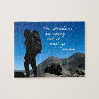 The Mountains are calling and I must go Jigsaw Puzzle