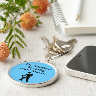 The Mountains Are Calling And I Must Go Silver-Colored Round Keychain