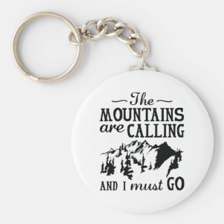 The Mountains Are Calling Basic Round Button Keychain