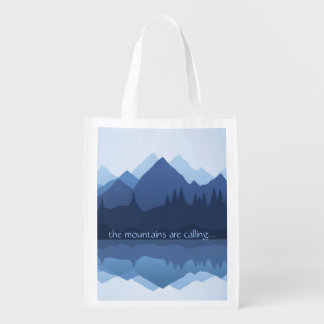The Mountains are Calling...Design Reusable Tote