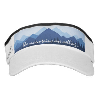 The Mountains are Calling Design Sun Visor Hat