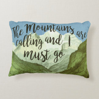 The Mountains Are Calling John Muir Quote Pillow