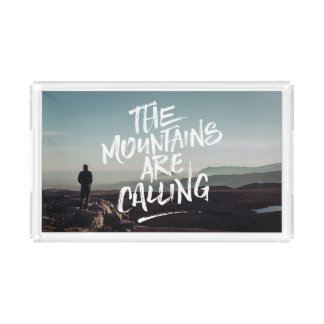 The Mountains Are Calling Lettering Photo Template Perfume Tray