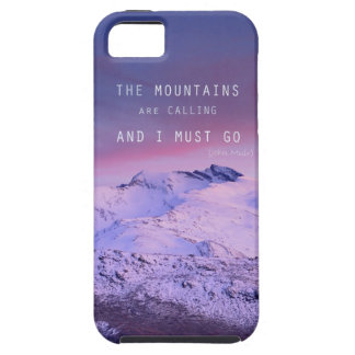 The mountains plows calling, and i must go. John M iPhone 5 Case
