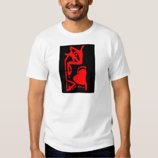 The mouse eating heart t-shirts