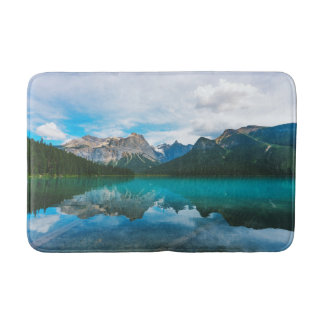 The Moutains and Blue Water Bathroom Mat