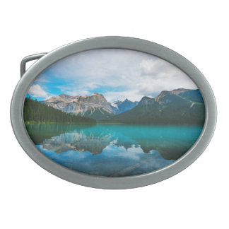The Moutains and Blue Water Belt Buckle