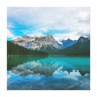 The Moutains and Blue Water Canvas Print