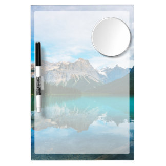 The Moutains and Blue Water Dry Erase Board With Mirror