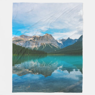 The Moutains and Blue Water Fleece Blanket