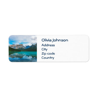 The Moutains and Blue Water Return Address Label