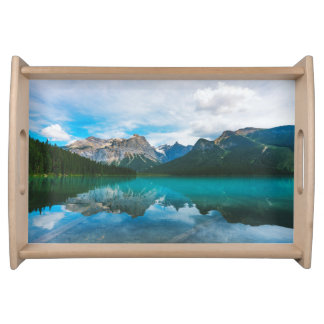The Moutains and Blue Water Serving Tray