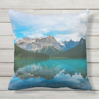 The Moutains and Blue Water Throw Pillow