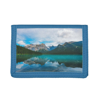 The Moutains and Blue Water Tri-fold Wallets