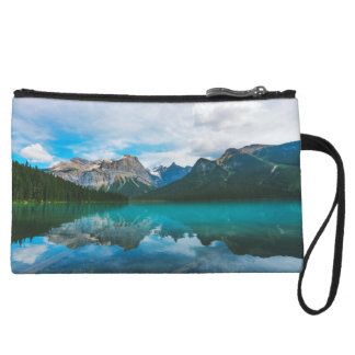 The Moutains and Blue Water Wristlet Clutch