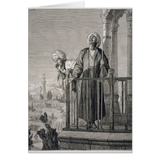 The Muezzin's Call to Prayer, 19th century Card