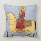 The Mughal Emperor Farrukhsiyar(1683-1719) (r.1713 Throw Pillow