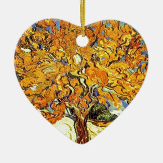 The Mulberry Tree, Vincent Van Gogh Ceramic Heart Ornament