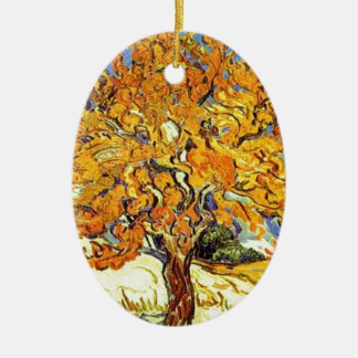 The Mulberry Tree, Vincent Van Gogh Ceramic Oval Ornament