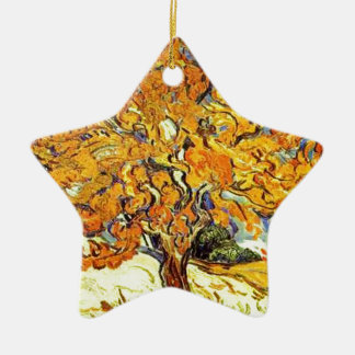 The Mulberry Tree, Vincent Van Gogh Ceramic Star Ornament