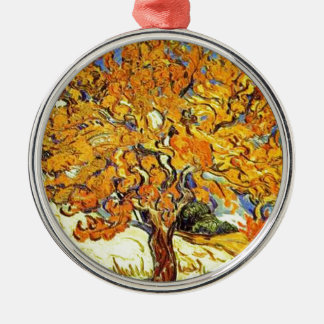 The Mulberry Tree, Vincent Van Gogh Silver-Colored Round Ornament