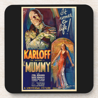 The Mummy Monster Movie Coasters