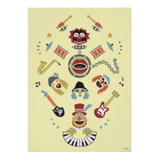 The Muppets Electric Mayhem Iconic Shape Graphic Poster