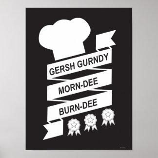 The Muppets | Gersh Gurndy Morn-Dee Burndee Poster