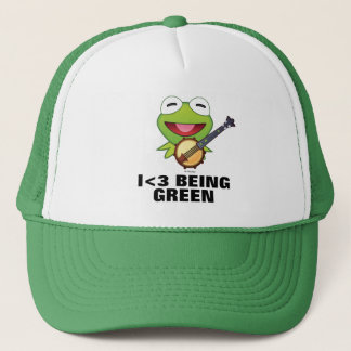 The Muppets| Kermit The Frog Emoji Trucker Hat