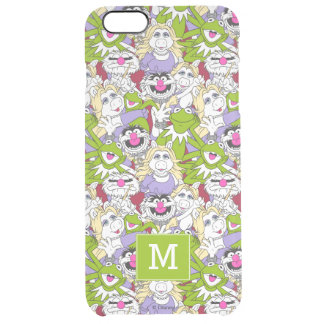 The Muppets | Monogram Oversized Pattern 2 Clear iPhone 6 Plus Case