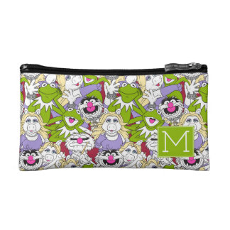 The Muppets | Monogram Oversized Pattern Cosmetic Bag