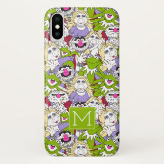 The Muppets | Monogram Oversized Pattern iPhone X Case