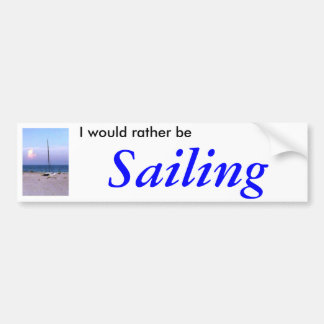The MUSEUM Artiist Series jGibney Sailing Bumper Sticker