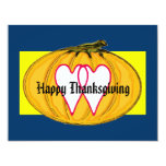 """The MUSEUM Artist Series Happy Thanksgiving 2a yw 4.25"""" X 5.5"""" Invitation Card"""