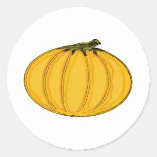 The MUSEUM Artist Series jGibney pumpkin7tc100 Round Sticker
