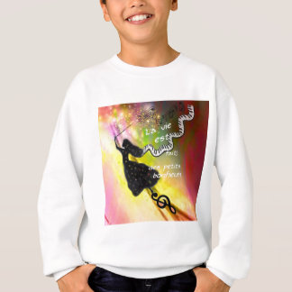 The music brings happiness to our life sweatshirt