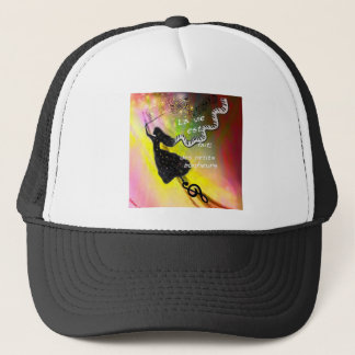 The music brings happiness to our life trucker hat