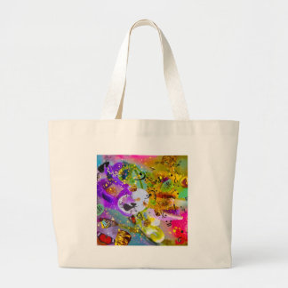 The music can express everything and say nothing. large tote bag
