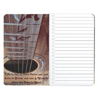 The Music dark brown acoustic guitar Journal