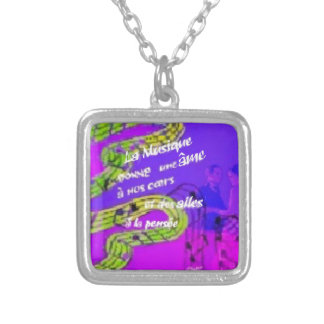 The music give us more than we knew silver plated necklace