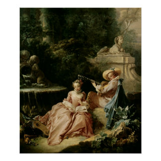 The Music Lesson, 1749 Poster