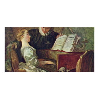 The Music Lesson,  By Fragonard, Jean-Honoré (Best Picture Card