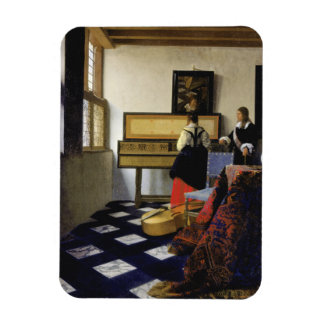 The Music Lesson by Johannes Vermeer Magnet